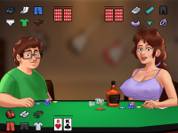 Strip poker minigame illustration