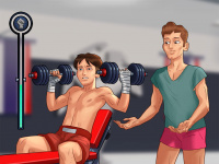Weightlifting minigame illustration