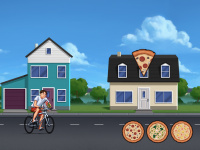 Pizza delivery minigame illustration