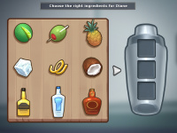 Cocktail minigame illustration
