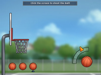 Basketball minigame illustration